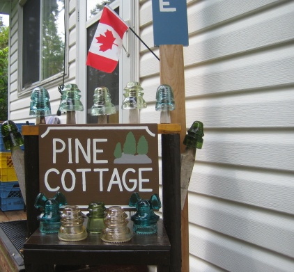Notice the new addition to my cottage sign! Wheehee!