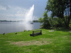 The park's fountain.