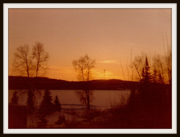 Nixon Lake sunset winter 1974