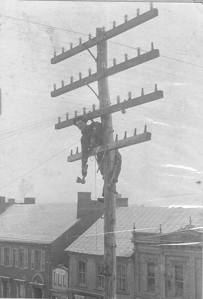 lineman on pole