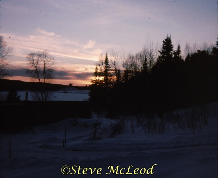 nixon lake winter sunset
