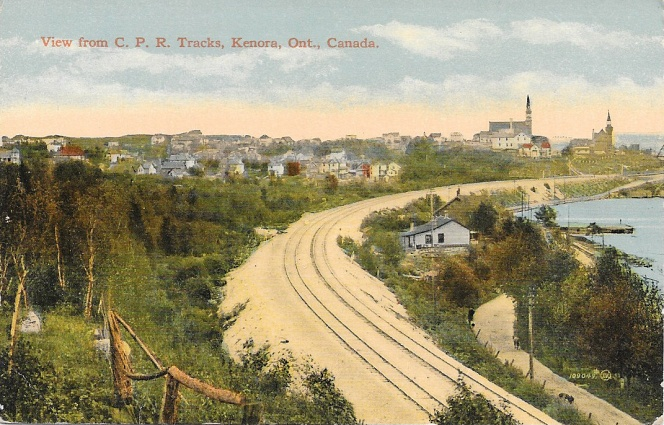 CPR tracks Kenora, early 1900s